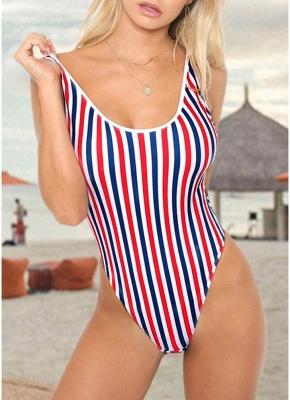 Women One Piece  Backless Padded Swimsuit Beach Wear_1
