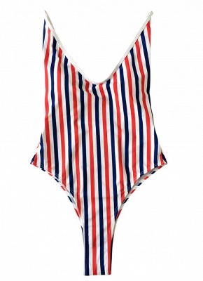Women One Piece  Backless Padded Swimsuit Beach Wear_5