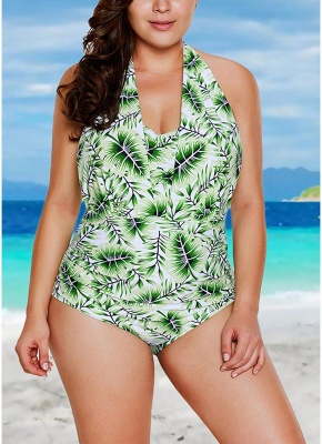 Halter Neck Backless Swimwear Padded Push Up Swimsuit_1