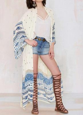 Women Chiffon Kimono Cardigan Beach Robe Blouse Top_1