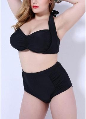 Plus Size Halter Underwire Push Up Sexy Bikini Swimsuit_3