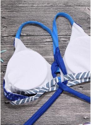 Women Brazilian Sexy Bikini Set Swimsuit Printed  Cut Out Bandage Padded Beach Wear Swimwear_4