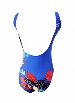 Women One Piece Swimwear Tiger Head Print Swimsuit Beach Summer Bathing Suit_4