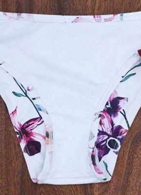 Women Floral Sexy Bikini Set Push Up Padded Bandage Swimsuit  Swimwear_4