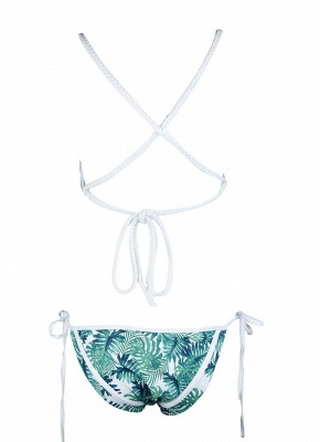 Women Strappy Print Sexy Bikini Set Backless  Swimsuit Beach Swimwear_5