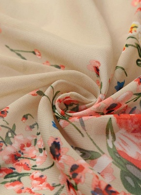 Vintage Floral Print Lace Hem Boho Chiffon Kimono_10