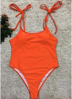 Women One Piece Swimsuit  Print Bodysuit Bandage Beach Wear Swimwear Backless Monokini_3