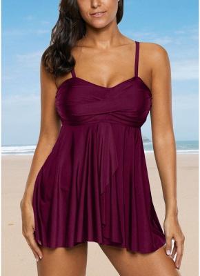Women Sexy Bikini Set Strappy Ruched Wireless Swimwear Beach Wear Two Piece_1