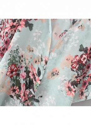 Summer Women Floral Chiffon Cardigan Open Front Half Sleeve Kimono_7