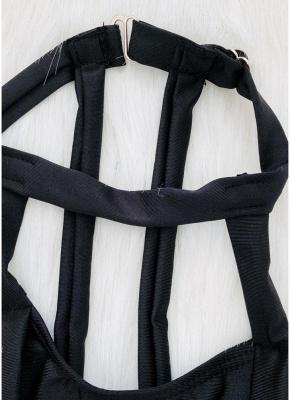 Choker Neck Hollow Bandage Padded Sexy Bikini Set_10