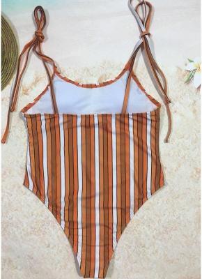Women One Piece Swimsuit  Print Bodysuit Bandage Beach Wear Swimwear Backless Monokini_7