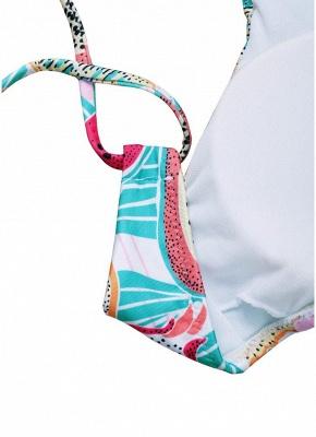 Women Fruit Printed Sexy Bikini Set Halter Swimsuit Padded Two Piece Swimwear fr_4