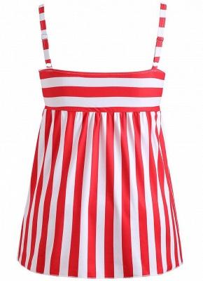 Plus Size Striped Swimsuit Push Up  Backless Bathing_7