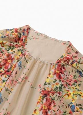 Vintage Floral Print Lace Hem Boho Chiffon Kimono_8
