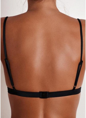 Sexy Bikinis Top Solid Swimsuit Bathing Suit Swim Halter Push Up Sexy Bikini Bra_3
