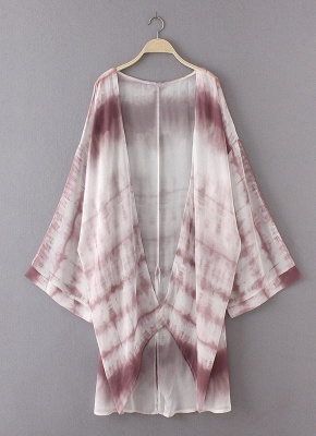 Women Chiffon Kimono Cardigan Beach Cover Up_5