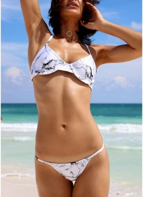 Women Floral Print Sexy Bikini Set Padded Wire Support Swimwear Beach_1