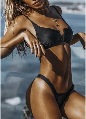 Women Sexy Bikini Swimsuit Top Backless Bralette Beach  Swimwear_7