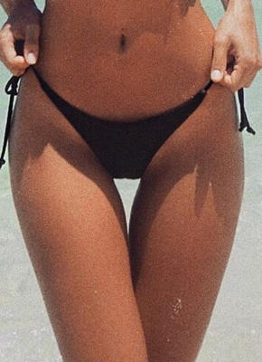 V-Shape Sexy Bikini Bottom Tie Side Swim Brief Brazilian Panties_4