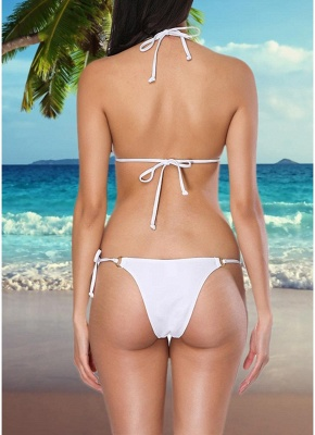 Women Two Pieces Swimsuit Strings Floral Sequins Beading O-ring Tassel Sexy Bikini Set Bathing_3