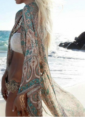 Women Chiffon Kimono Cardigan_1