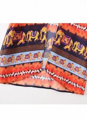 Summer Cardigan Elephant Print Boho Loose Women's Kimono_10