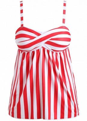 Plus Size Striped Swimsuit Push Up  Backless Bathing_6