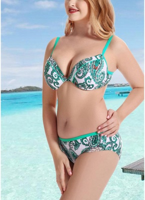 Women Plus Size  Sexy Bikini Set Underwire Swimsuit Beach Wear Two Piece_6