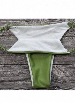 Women Sexy Bikini Set Push Up  Frill Low Waisted Swimwear Padded Two Piece Swimsuit Beach Wear Green_6