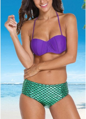 Mermaid Custom Underwire Push-Up Padded Sexy Bikini Set_1