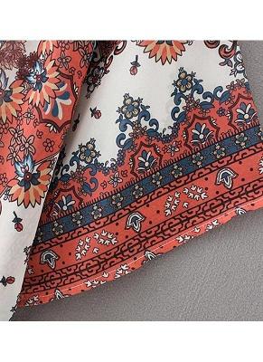 Boho Chiffon Floral Print Front Open Women's Loose Kimono_6