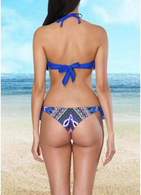 Women  Sexy Bikini Set Halter Tassel Underwire Swimsuit Beach Wear Two Piece_3