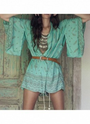 Women Summer Shirt Kimono Beach Cover Up Outerwear_2