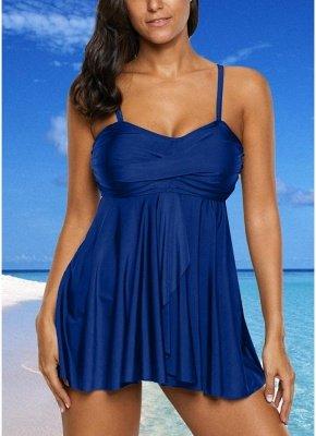 Women Sexy Bikini Set Strappy Ruched Wireless Swimwear Beach Wear Two Piece_2