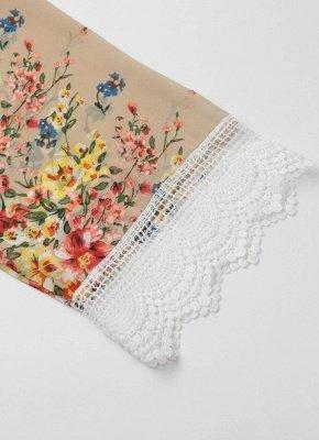 Vintage Floral Print Lace Hem Boho Chiffon Kimono_9