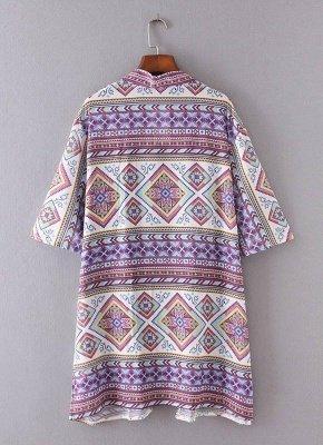 Bohemian Fashion Chiffon Geometric Print Loose Women's Kimono_5