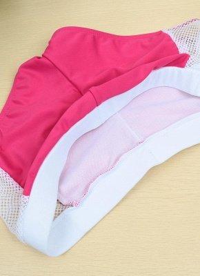 Color Block Halter Padded Two Piece Rose Sexy Bikini Set_7