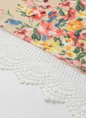 Vintage Floral Print Lace Hem Boho Chiffon Kimono_7