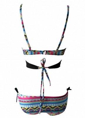 Women Sexy Bikini Set Halter Cross Padding Low Waist Thong Biquini  Swimsuit_6