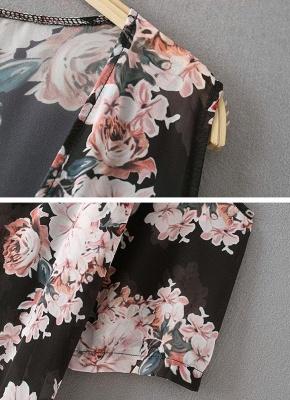 Summer Chiffon Cardigan Sexy Bikini Cover Up Printed Boho Long Women's Kimono_6