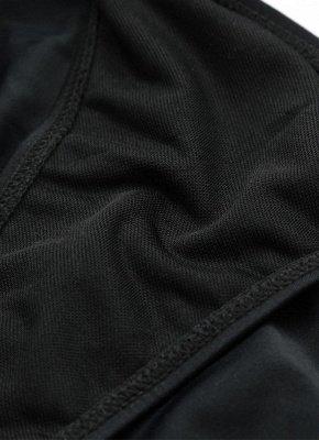 Halter Cross Design Strappy Plunge Bandage Black One Piece Swimsuits_9