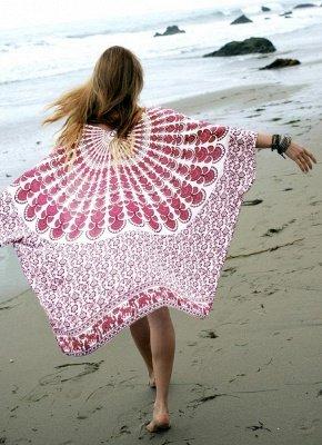 Women Chiffon Beach Kimono_1