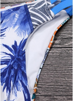 Women Brazilian Sexy Bikini Set Swimsuit Printed  Cut Out Bandage Padded Beach Wear Swimwear_3
