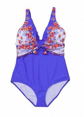 Women Plus Size One Piece Swimsuit Open Back  Monokini_6