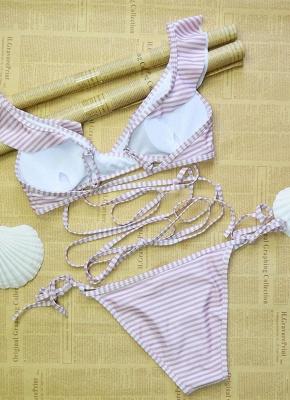 Women  Ruffles Bandage Sexy Bikini Set Swimsuit_3