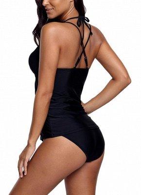 Women Sexy Bikini Set Swimsuit Push Up  Lace Trim Beach Wear Swimwear Plus Size Tankini Set_4