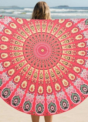 Round Beach Towel Bohemian Printed Tapestry Throw