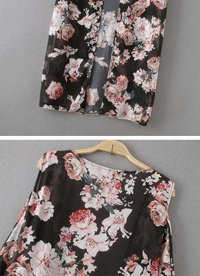 Summer Chiffon Cardigan Sexy Bikini Cover Up Printed Boho Long Women's Kimono_8