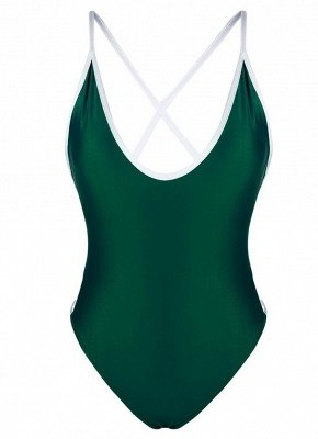 Women One Piece  Bandage Monokini Backless Swimsuit Beach Wear_6