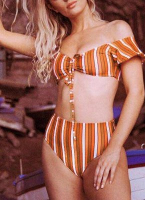 Women Sexy Bikini Set Swimsuit Push Up  Solid&Leopard&Stripe Bandage Beach Wear Swimwear_1